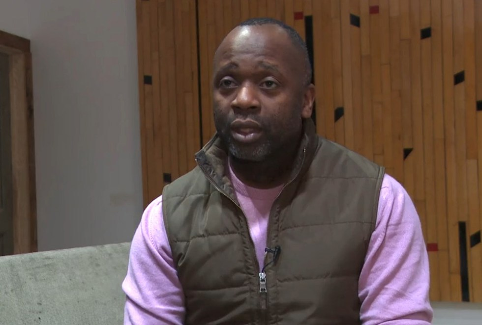 Theaster Gates talking about his work (Still from White Cube film)