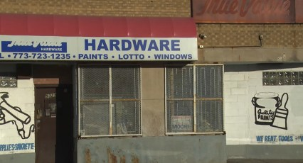 Halstead Hardware, the closed down store in Chicago