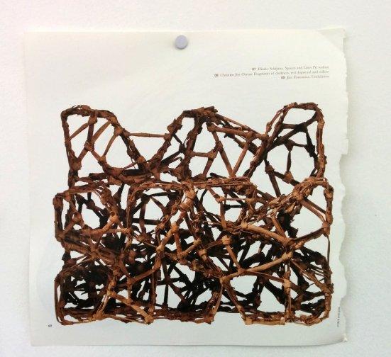 Hisako Sekijima. Spaces and Lines IV, walnut