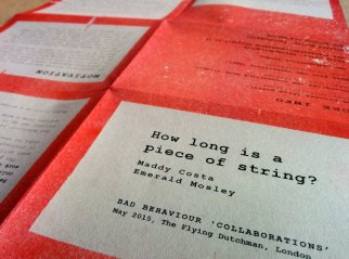How Long is a Piece of String - red & green risograph poster