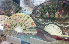 Fans on display as part of Treasures of the Fan Museum exhibition