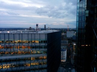 View of London from the Switch House viewing level with Neo Bankside buildings to the right