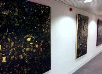 'Flicker' paintings / collages