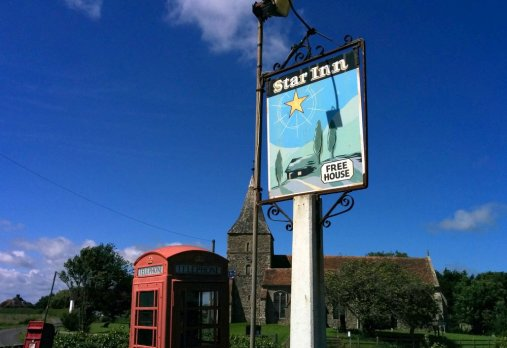 Post box, phone box, church & pub - I-Spy English Village :)