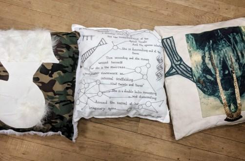 Selena Steele's pillow at Pillow Talk, Tate Modern