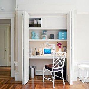 tiny office. Closet-office-l Tiny Office