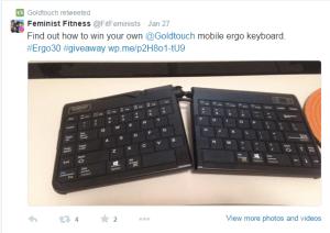 Feminist Fitness Twitter ergo30 post 2