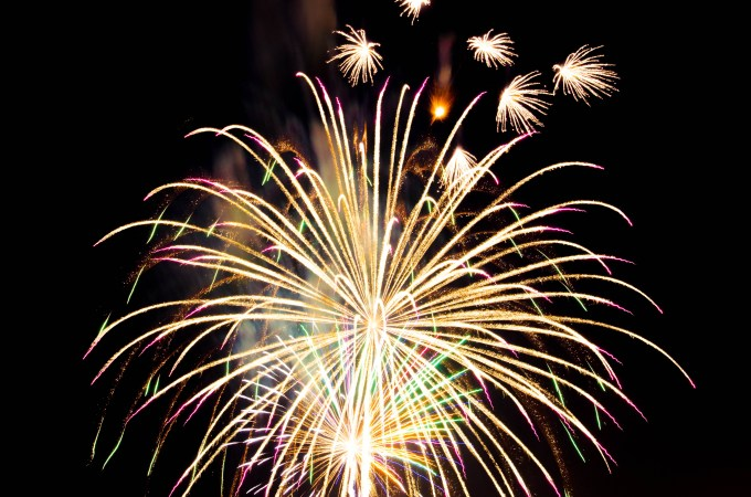 Fireworks Gold and Colored Ergonomic Resolutions