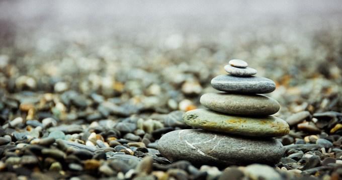 Lower Stress with zen rocks