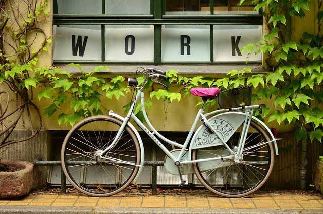bike in front of office