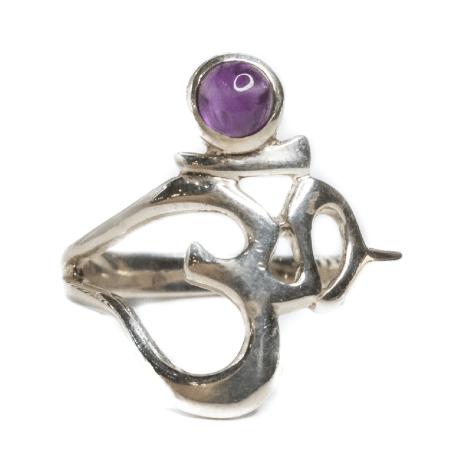 Om with Amethyst Ring