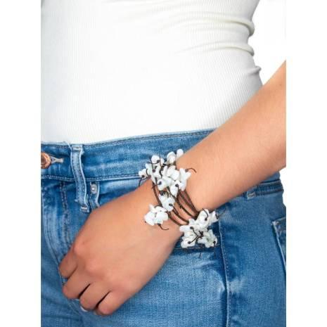 Handmade Mother of Pearl Wrap Around Bracelet