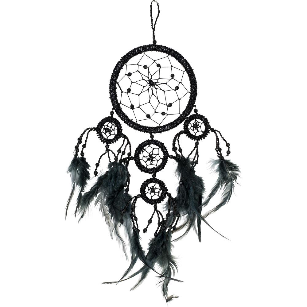 Black Beaded Dreamcatcher