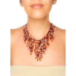 Handmade Carnelian Fringe Necklace