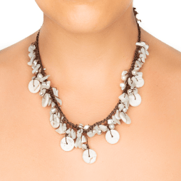 Handmade Mother Pearl and Howlite Princess Necklace