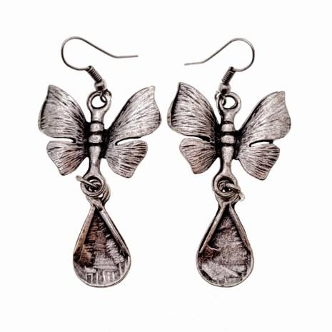 Zinc Alloy Butterfly Earrings