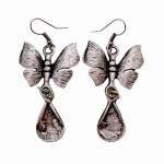Vintage Drop Silver Plated Earrings - Style 16