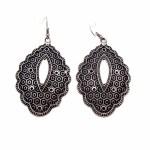 Vintage Drop Silver Plated Earrings - Style 24