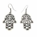 Vintage Drop Silver Plated Earrings - Style 25