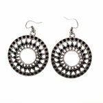 Vintage Drop Silver Plated Earrings - Style 7