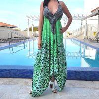 Women Beach Evening Summer Halter Maxi Dresses Free Size - 2003