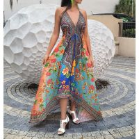 Women Elegant Halter Long Maxi Dresses Free Size - HAWAII Dress 600