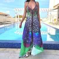 Women Beach Evening Summer Halter Maxi Dresses Free Size - SD-2021