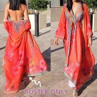 Women Elegant Halter Long Maxi Dresses/Cover Up Free Size - VRSTYL Duster 678