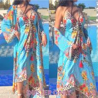 Women Elegant Halter Long Maxi Dresses/Cover Up Free Size - VRSTYL Duster 647