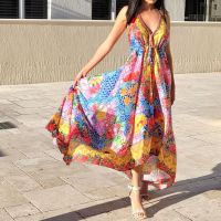 Women Elegant Halter Long Maxi Dresses Free Size - HAWAII Dress 660