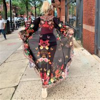Women Elegant Halter Long Maxi Dresses/Cover Up Free Size - BLK Duster 684