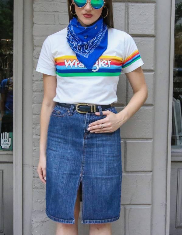 perfect denim skirt