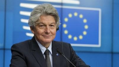 EU-Digitalkommissar Thierry Breton will Google und Facebook nicht zerschlagen.