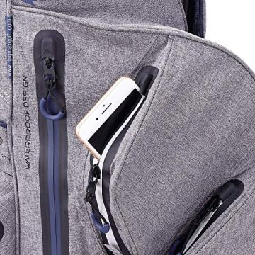 Big Max Aqua Silencio 3 Golf Cartbag 2020-100% wasserdichte Golftasche (Black) - 3