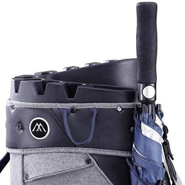 Big Max Aqua Silencio 3 Golf Cartbag 2020-100% wasserdichte Golftasche (Black) - 5