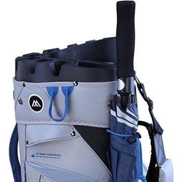 Big Max Dri Lite Silencio Cartbag - Wasserabweisende Golftasche schwarz - 4
