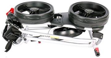 Bullet Golfwagen 5000 Professional, klappbar mit mit leicht-klick-System Silber für Golftaschen/Golfbags - 2
