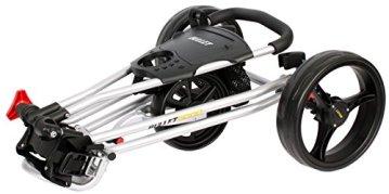 Bullet Golfwagen 5000 Professional, klappbar mit mit leicht-klick-System Silber für Golftaschen/Golfbags - 5