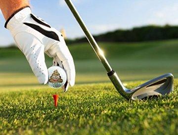 Emoji Erwachsene 6er Set Neuartige Fun Golfbälle, Multicoloured, 6 - 2