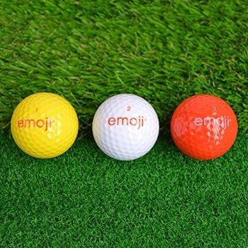 Emoji Erwachsene 6er Set Neuartige Fun Golfbälle, Multicoloured, 6 - 5