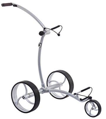 Leisure Golf Elektro Golftrolley Ikarus DHC Slim Line (Silber) - 1