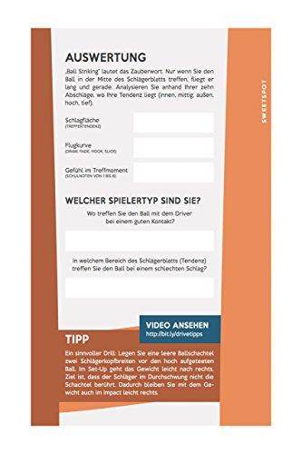 Mein Golf Training: Besser Driven - 18 Übungen für den Abschlag | Booklet für das Golf-Bag - 2