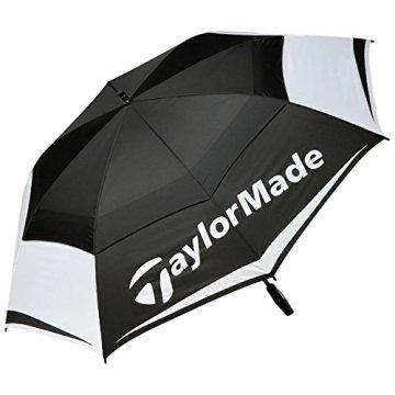 """Taylor Made TM Tour Double Canopy Umbrella Golf, Unisex-Erwachsene, schwarz/weiß/grau, 64"""" - 1"""