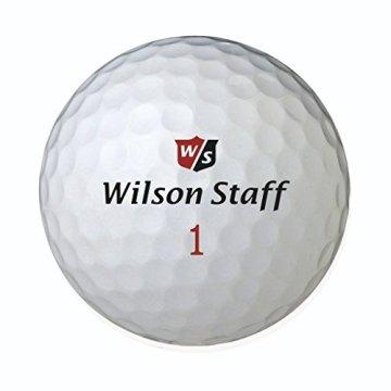 Wilson Staff, Weltweit weichster 2-teiliger Herren Golfball für maximale Reichweite, 12er-Pack, Fortgeschrittene, 29er Kompression, Kautschuk, Dx2 Soft, Weiß, WGWP37100 - 4