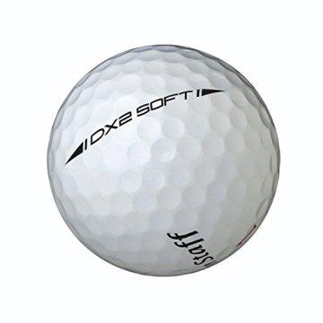 Wilson Staff, Weltweit weichster 2-teiliger Herren Golfball für maximale Reichweite, 12er-Pack, Fortgeschrittene, 29er Kompression, Kautschuk, Dx2 Soft, Weiß, WGWP37100 - 5