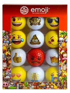 Emoji Unisexe officiel fantaisie Fun Balles de golf, Rouge