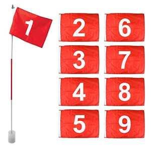 On Par Unisexe Bâtons de golf, tasses (lot de 9numéros de drapeau, 1–9), blanc