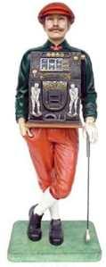 Golfeur avec machine à sous lebensgroß 185cm pour intérieur en polyrésine