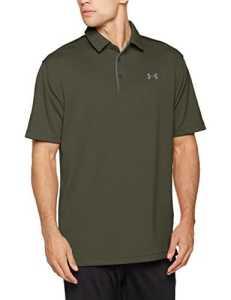 Under Armour T-shirt Tech Polo – manches courtes pour homme – Vert (Kaki) – FR : S (Taille Fabricant : SM)
