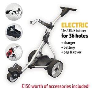Chariot de golf électrique, Rider Silver Electric Golf Trolley, Silver